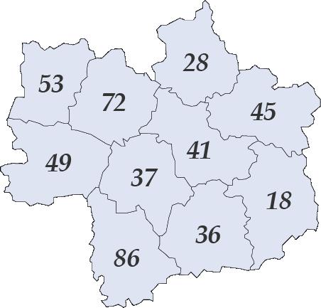 Image des départements région centre
